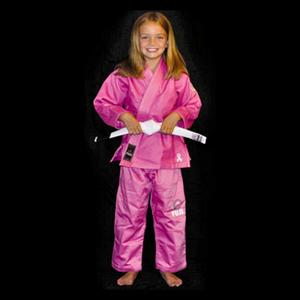 Fuji Kid's Pink BJJ Gi with Free White Belt
